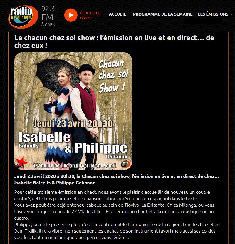 Isabelle Balcells et Philippe Géhanne- radio Bazarnaom