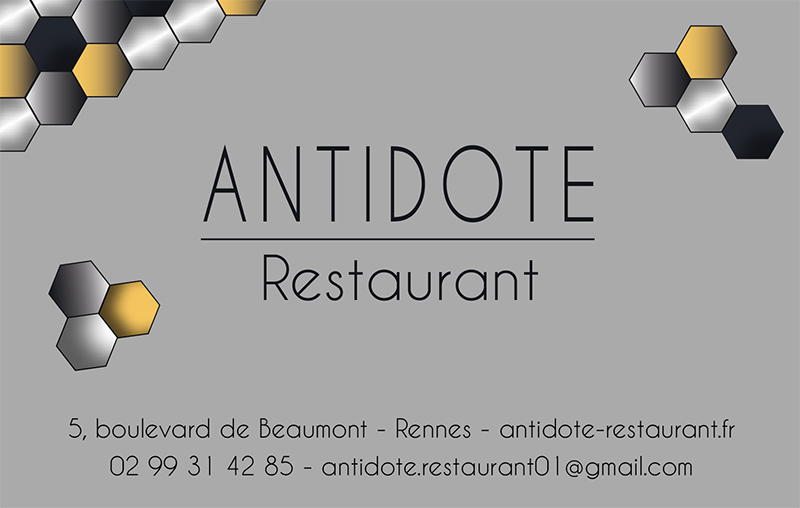 Cartes Antidote restaurant